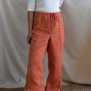 27W Eddie Bauer Mandarin straight leg linen pants